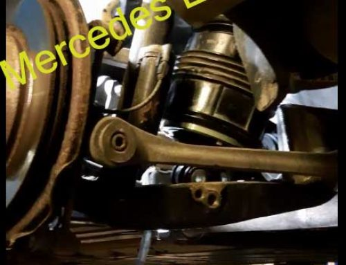 Replacing rear air spring Mercedes W211 / W212 Eclass